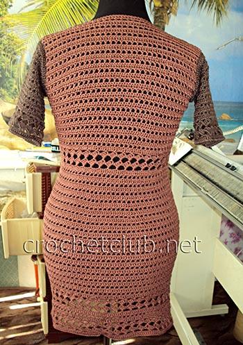 вязаное облегающее платье 1