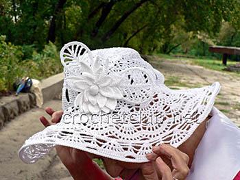 экстравагантная шляпа связанная крючком