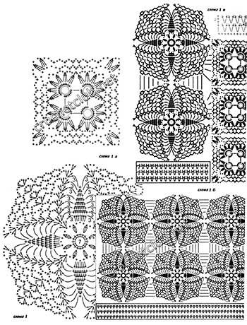 летняя блузка крючком-схемы