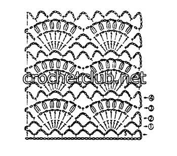 пляжный сарафан выполненный крючком-схема 2