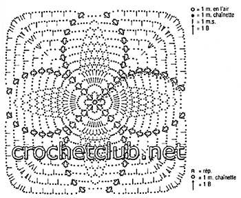 вязаное крючком платье для девочки-схема 2