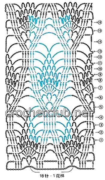 вязаное крючком платье для девочки-схема 3