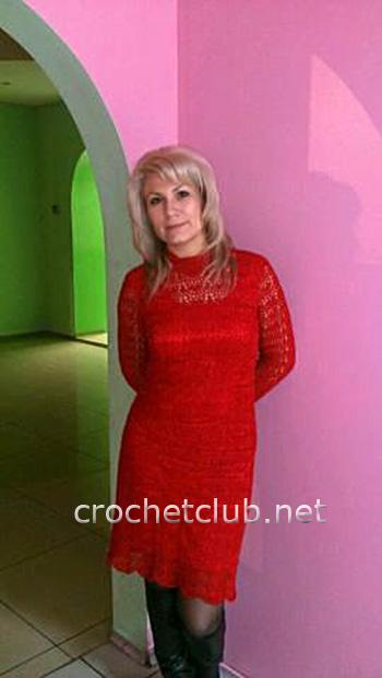 вязаное вечернее платье 1