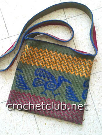 жаккардовая сумка танцующий ворон