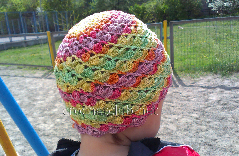 шапка панамкам для девочки крючком схема