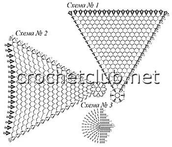 вязаные мини-зонтики-схемы