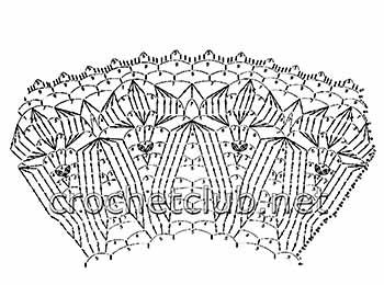 летняя шляпа крючком-схема полей