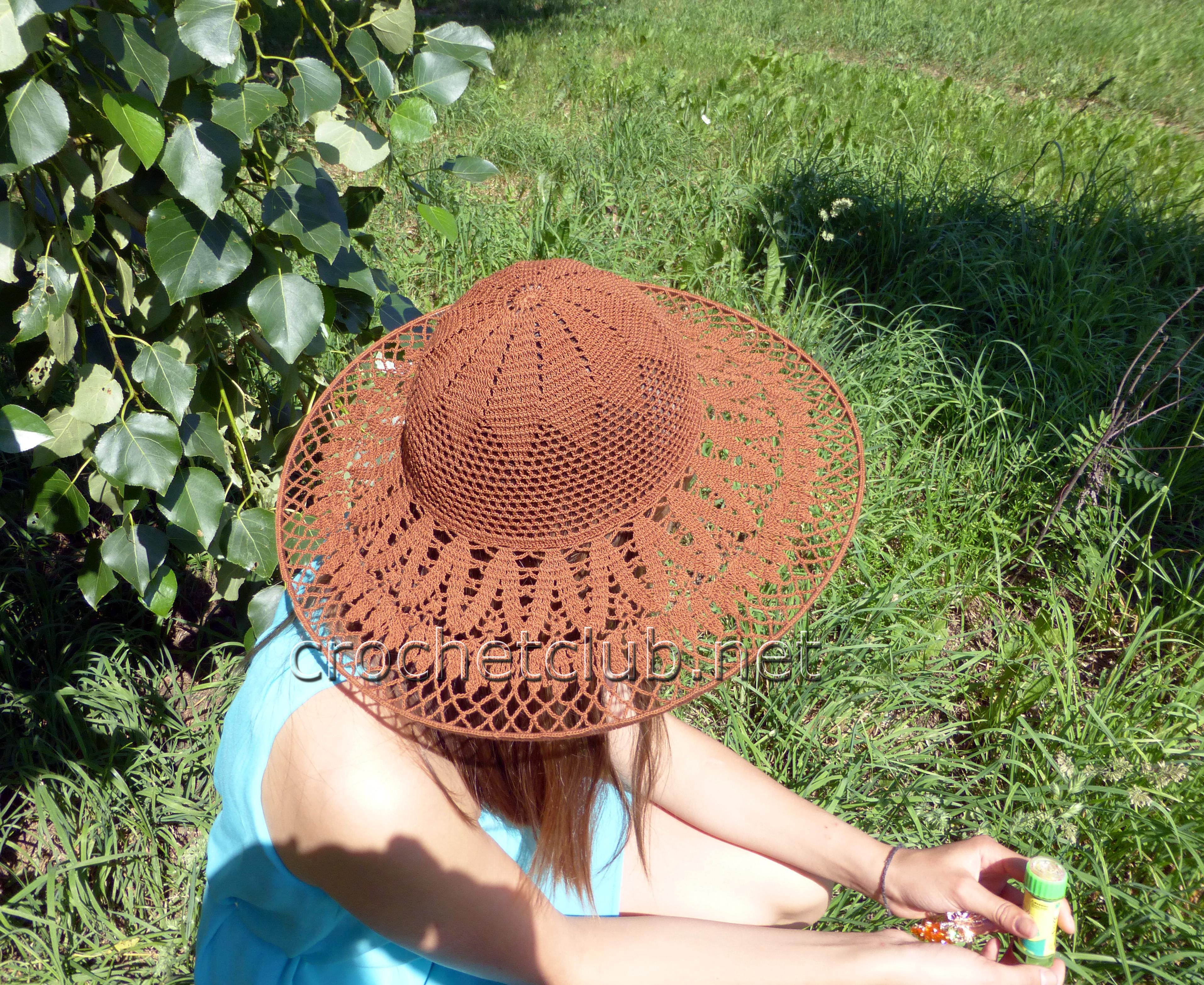пляжные шляпы крючком со схемами для женщин