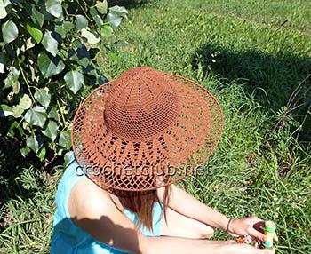 летняя шляпа крючком