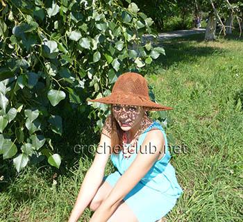 летняя шляпа крючком 1