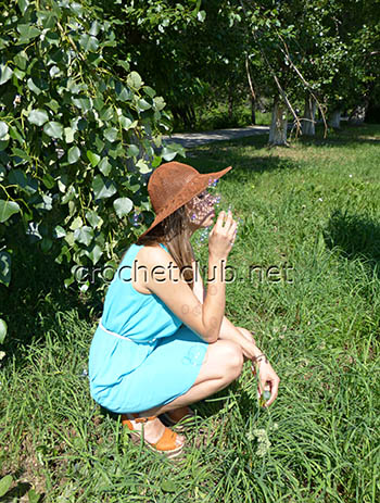 летняя шляпа крючком 2