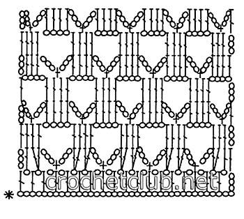 пляжная туника цвета горчицы-схема 2
