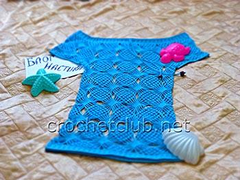 пляжная туника голубая мечта 3