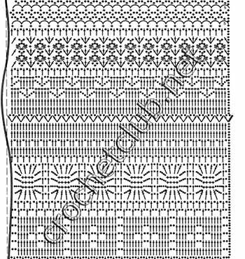 сарафан и шраг крючком-схема 2