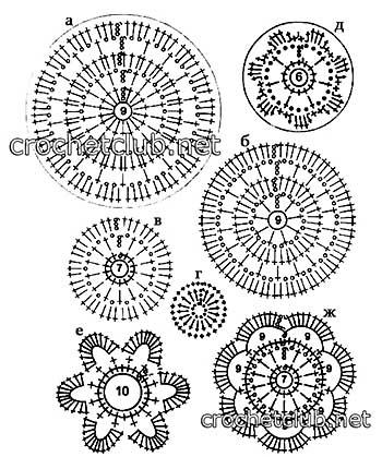 туника цветочная в ирландской технике-схемы 2