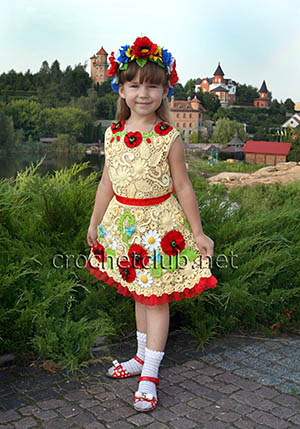 детские платья в ирландской технике 1