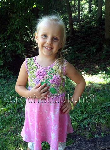 платье для девочки ирландское кружево и ткань