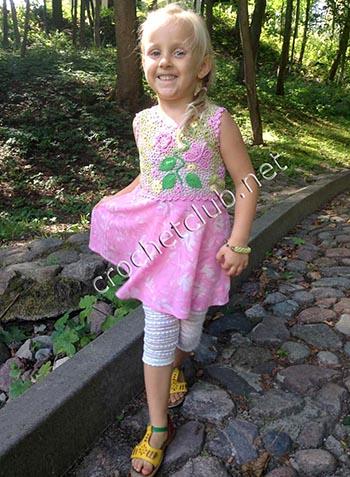 платье для девочки ирландское кружево и ткань 1