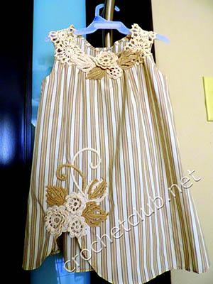 платье крючком из рубашки