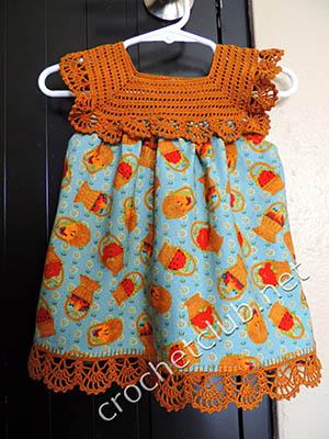 платье на рыжей кокетке крючком