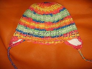 детская шапочка с ушками крючком 1