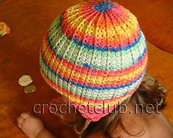 детская шапочка с ушками крючком 2