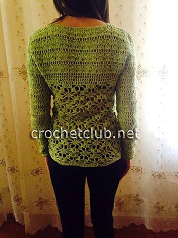 пуловер с узором паучки 1