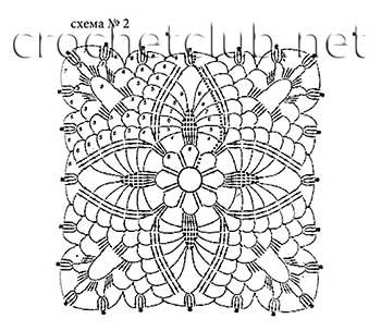 белый пуловер-ирландское кружево-мотив 2