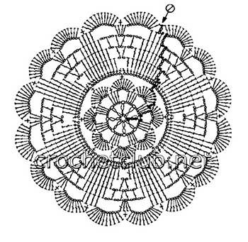 белый пуловер-ирландское кружево-мотив 8
