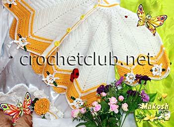 кардиган крылья бабочек крючком 2