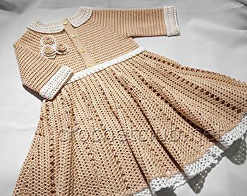 платье крючком карамелька