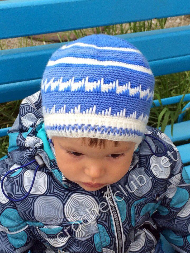 Вязание шапок для мальчика видео 18