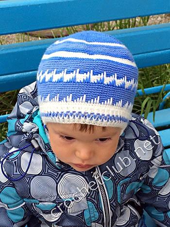 шапка для мальчика крючком