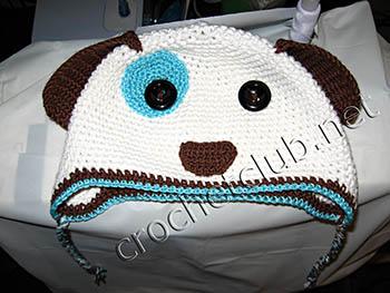 шапочка собачка для малыша