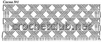 теплый вязаный кардиган-схема 1