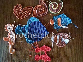туника морская жизнь-вязание 1