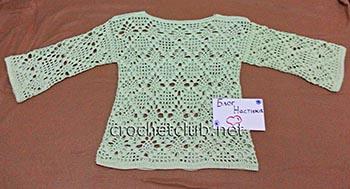 ажурный пуловер крючком 1