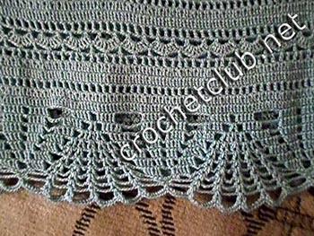 платье связанное из хлопка 6