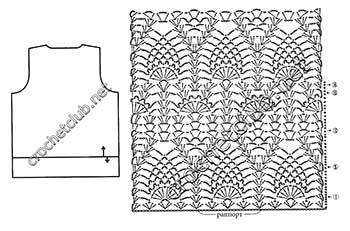 пуловер ананасы в шоколаде-схема 1