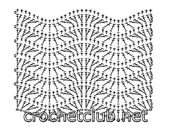пуловер связанный волнистым узором-схема 2