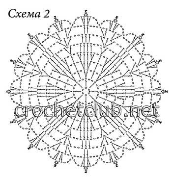 вязаный пуловер солнечный-схема 2