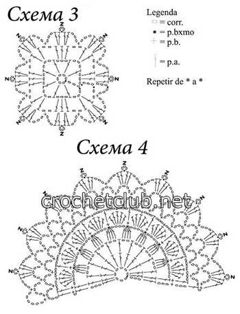 вязаный пуловер солнечный-схема 3 4