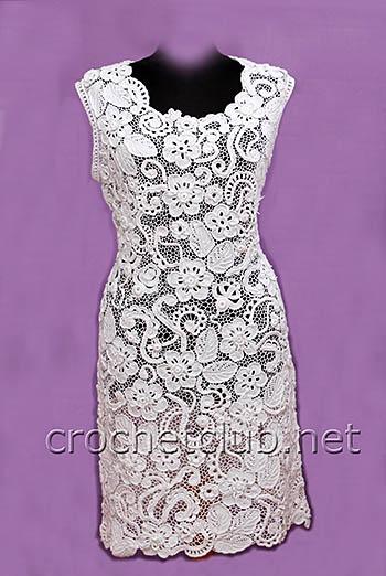 платье белое-ирландское кружево