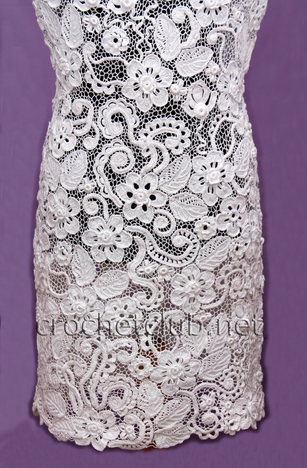Белое платье в ирландском кружеве
