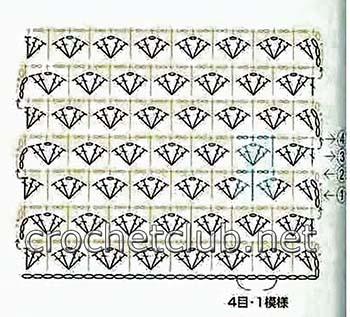 пуловер связанный двухцветным узором-схема 1
