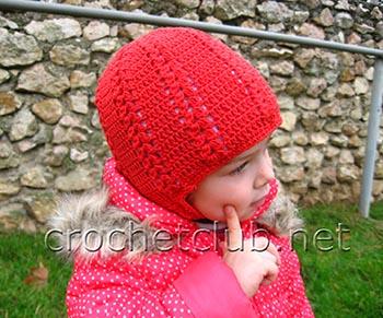 теплая красная шапочка