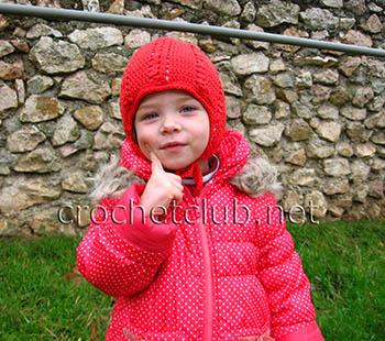 теплая красная шапочка 1