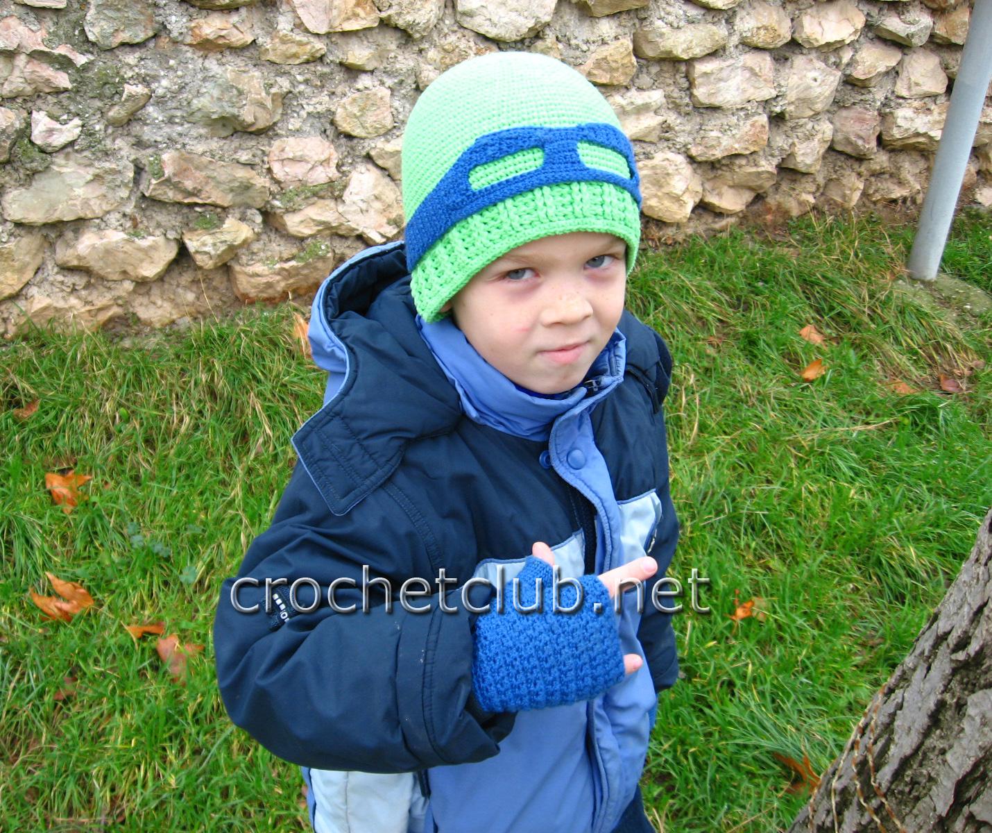 вязаные детские шапки на мальчиков и схемы