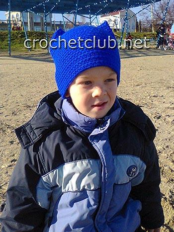 шапка с ушками для мальчика 1