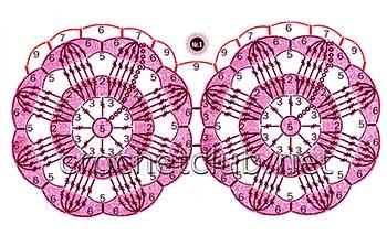 вязаное пончо цветочное-схема 1